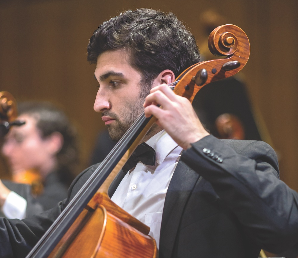 Cellist Daniel Kopp, UT Symphony Orchestra, Richard Rainwater fund