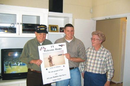 In Ty's Place, Ty Welcome Home, Dayton Williams military scholarship