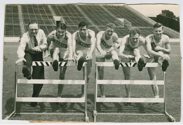 vintage photo of UT Track team