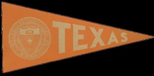 Texas vintage athletic banner flag