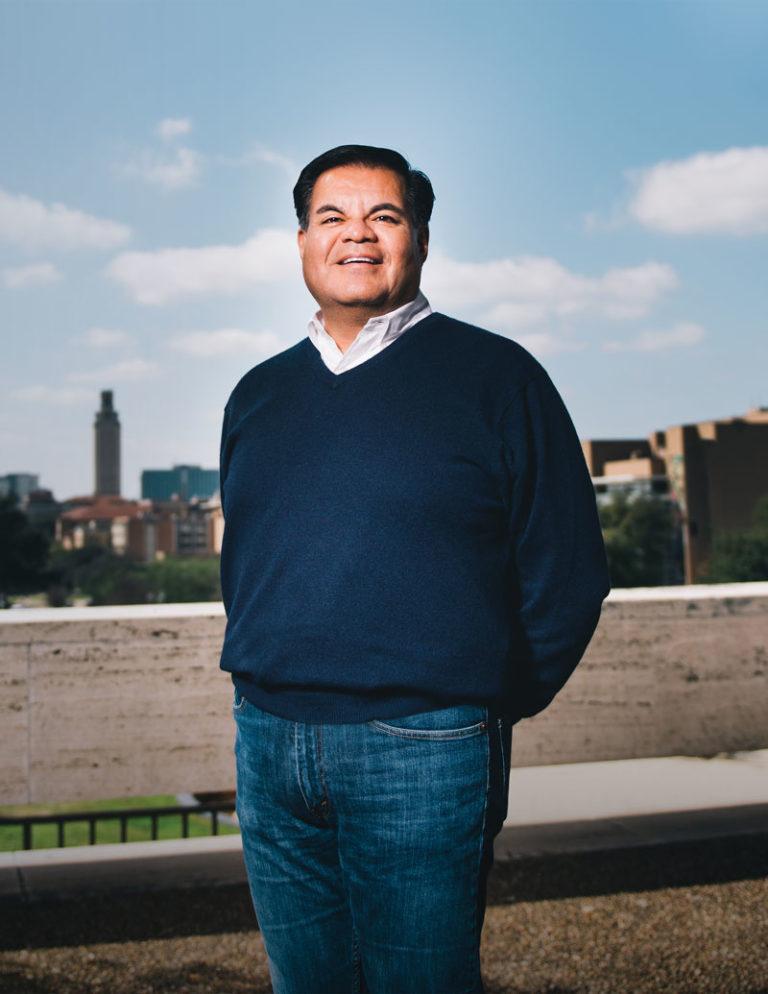 Mario Espinoza portrait at UT Austin