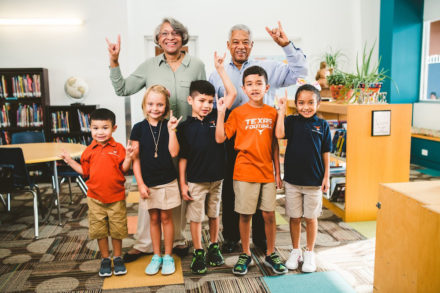 Keith Maxie, College of Natural Sciences '67, and Alice Maxie recently set up a charitable gift annuity which provides income during their lives and will benefit UT Elementary.